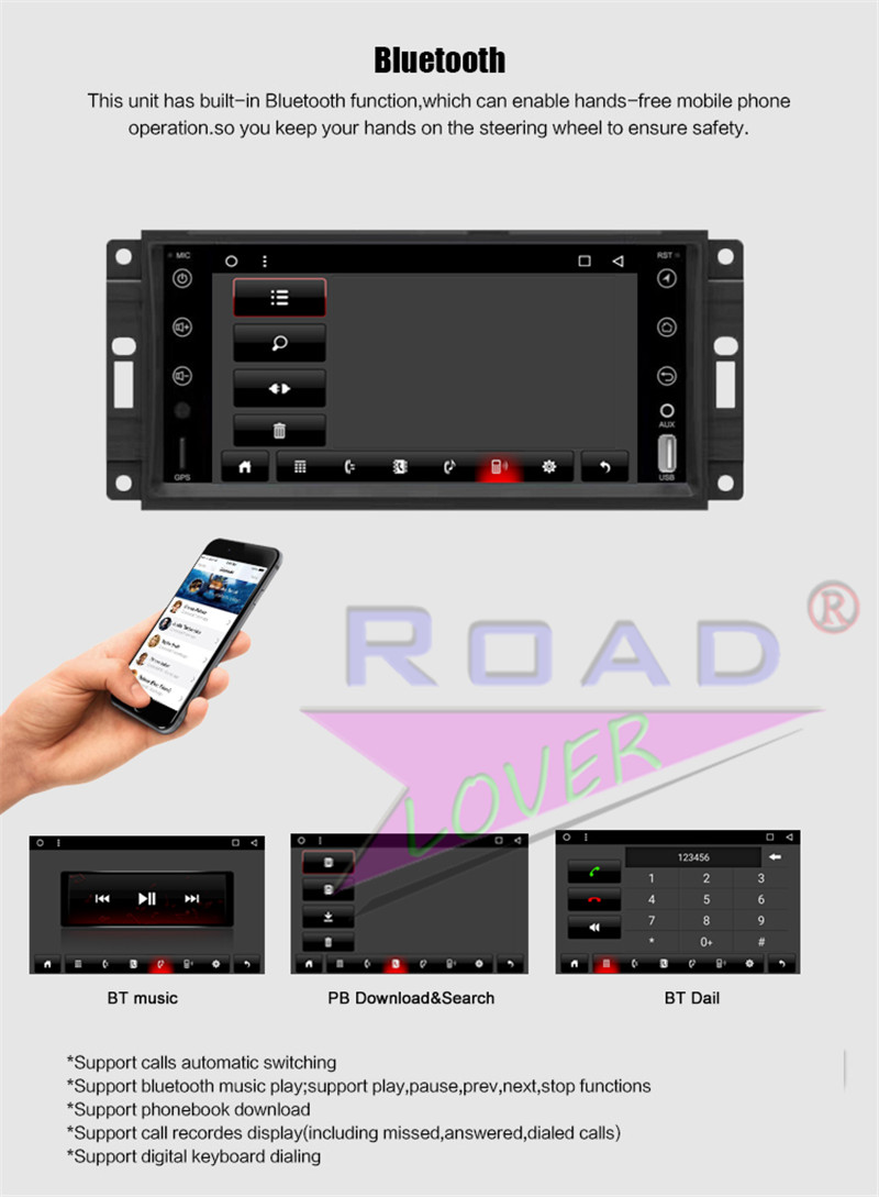 2 din android car radio For Jeep Universal