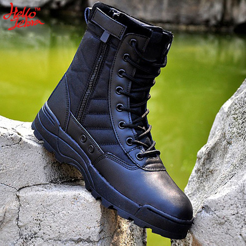 ФОТО Tactical Boots Tide Male Combat Boots Desert Breathable Outdoor Jungle Military Shoes Waterproof  Wearable Boots Hiking Climbing