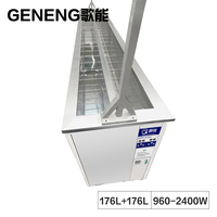 Industrial 350L Ultrasonic Cleaner Window Blind Washer Bath Double Groove Cleaning Tank Fabric Plastic Shade Ultrason Tools