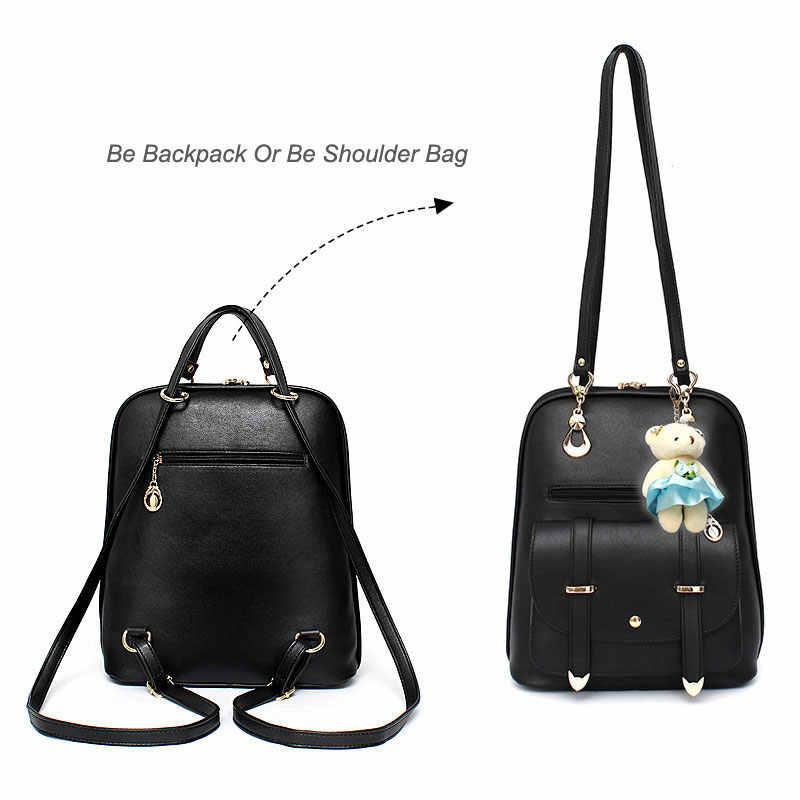 41bc02ee23 ... Fashion Small Women Backpack Female School Bags for Teenage Girls Mini  Pu Leather Bookbag 2018 Cute ...