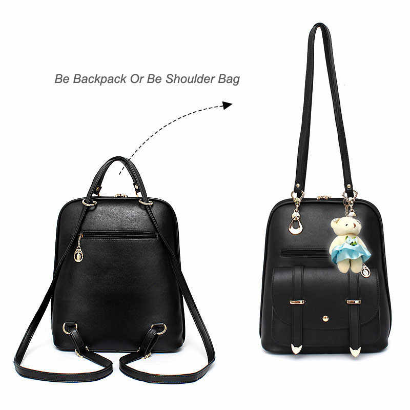 4b7e88cea8cc Fashion Small Women Backpack Female School Bags for Teenage Girls Mini Pu  Leather Bookbag 2018 Cute Back Pack Purse Mochila
