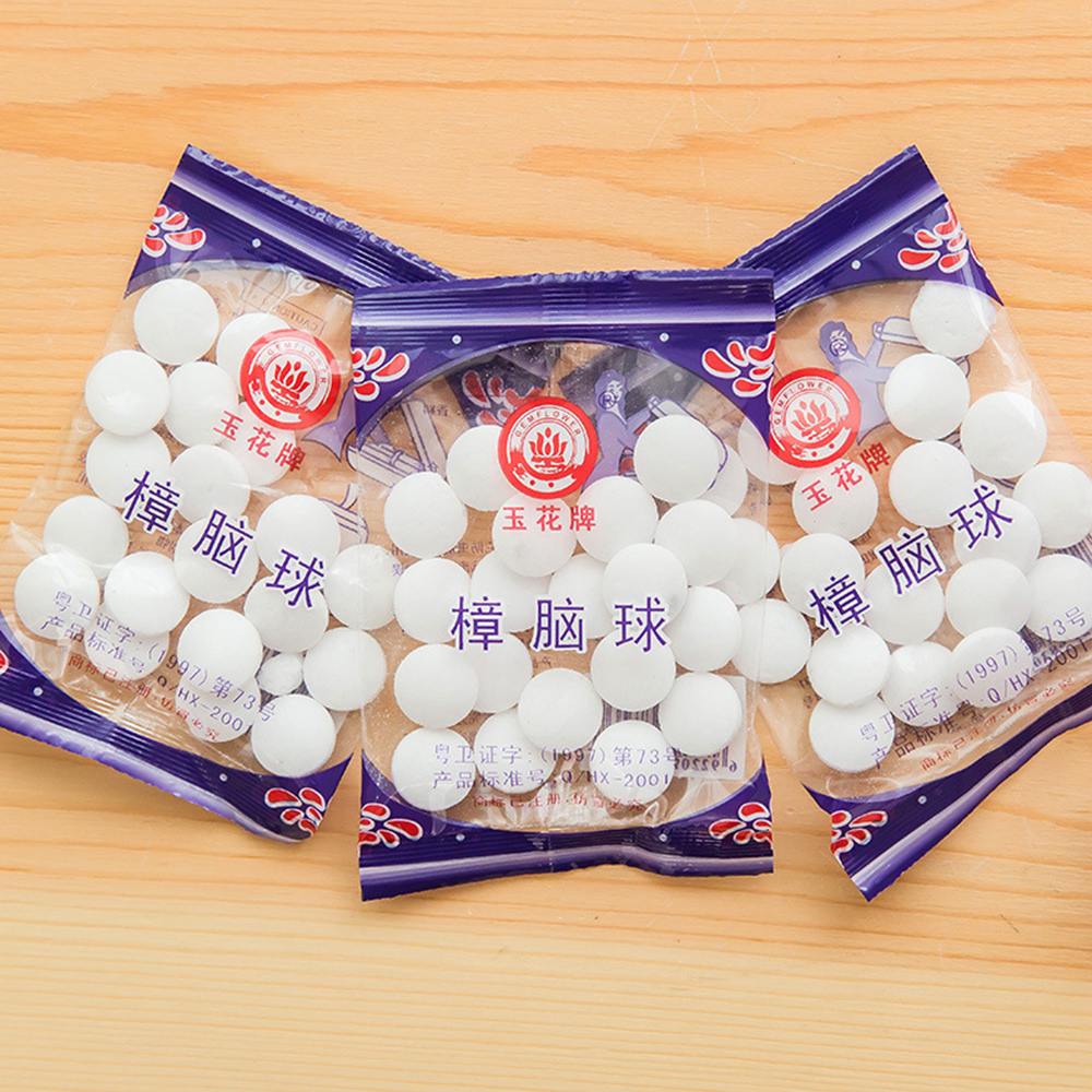 New 20pcs/bag Wardrobe Odor Removal Insect-resistant Moth-proofing Natural Camphor Ball Drawer Deodorizer Naphthalene Mothball