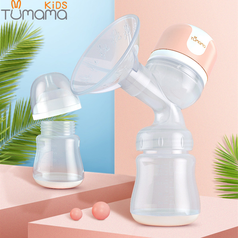 Tumama Large Suction Electric Breast Pump USB Breast Feeding Advanced Automatic Massage Breast Pumps Baby Milk Bottles BPA Free