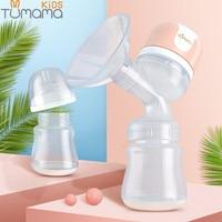 Tumama Large Suction Electric Breast Pump USB Breast Feeding Advanced Automatic Massage Breast Pumps Baby Milk Bottles BPA free