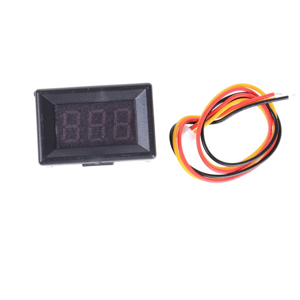1Set Digital Voltage Meter LED Display 3 Wires DC 0-100V Detection Of DC Voltmeter Voltage Tester For Auto Car LED Display Gauge