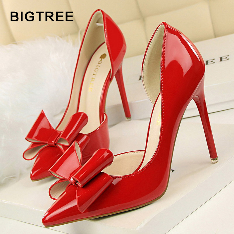 BLGTREE Women Pumps Pointed Toe Wedding Shoe 2018 New Women Solid sexy Flock Fashion Shallow High Heels Shoes for Women 6 Color floral embroidered heels women pumps solid pointed high heels toe shallow fashion high heels 10cm shoes women wedding shoes