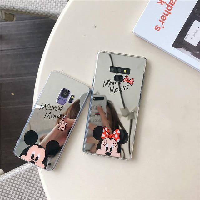 Милый рисунок «Hello Kitty» чехол для телефона «Микки и Минни Маус» зеркало телефон роскошный чехол из мягкого ТПУ силиконовый чехол для samsung S9 S8 S10 плюс примечание 9 8 чехол