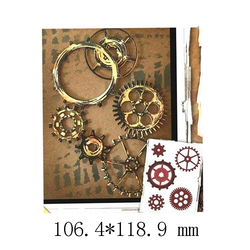 Gears Elements Metal Cutting Dies for DIY Scrapbooking Paper Cards Making Decorative Crafts Supplies 2019 New Diecuts in Cutting Dies from Home Garden