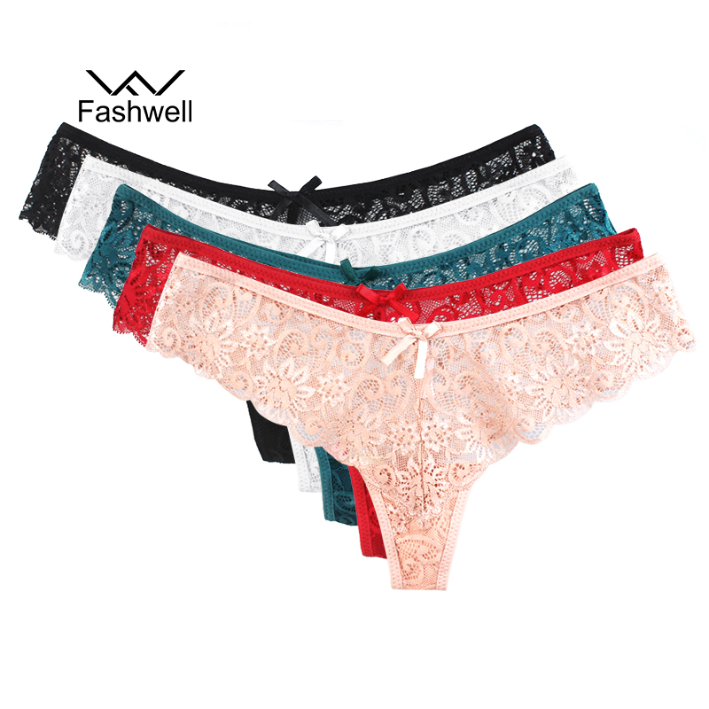 High Quality Lace Cofortable Women's Sexy Thongs G-string Underwear Panties Briefs Ladies M L XL Sexy Panties 5pcs/lot