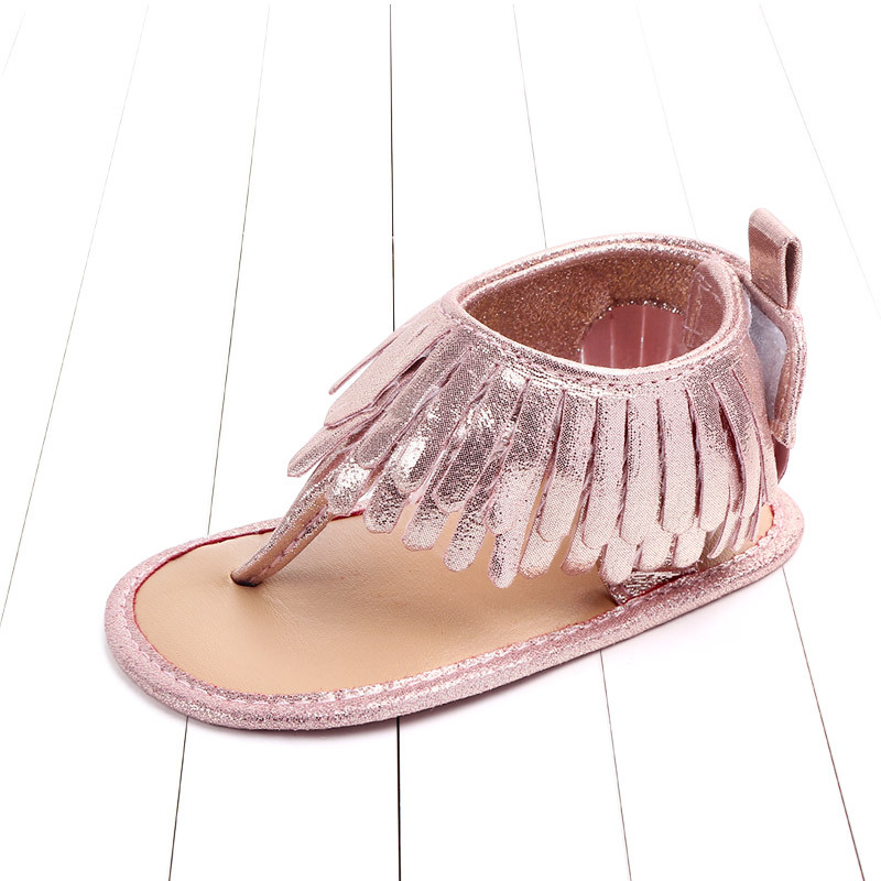 Baby comfortable sandals 2018 summer new boy girls beach shoes kids casual sandals children fashion Baby Girl Tassel Sandals (12)