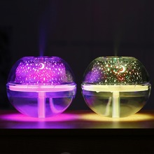 USB Crystal Night Lamp 500ml Air Humidifier Desktop Aroma Diffuser Ultrasonic Mist Maker LED Light Face Care Tools