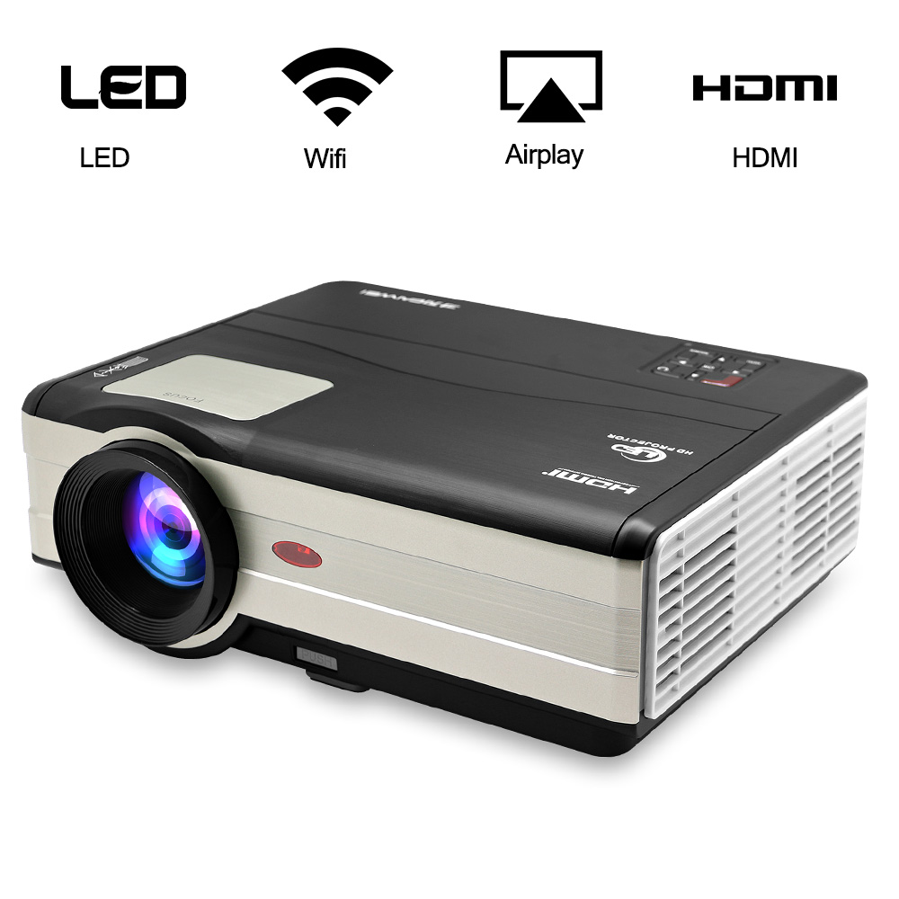 Home Theater Cinema LED Projector Full HD 1080p Android Wifi Wireless Movie Video HDMI USB Proyector Beamer TV Smartphone 2017 brand fujitsu fa100 mini home theater video lcd tv cinema pico hdmi portable fuli hd 1080p led projector proyector beamer