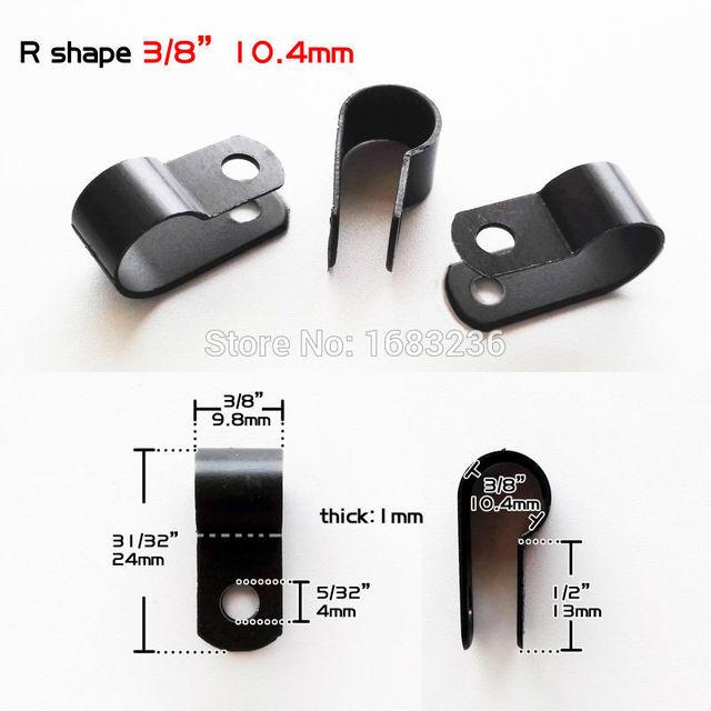50 stücke Schwarz Nylon Kunststoff 3/8 inch Kabelklemme Draht ...