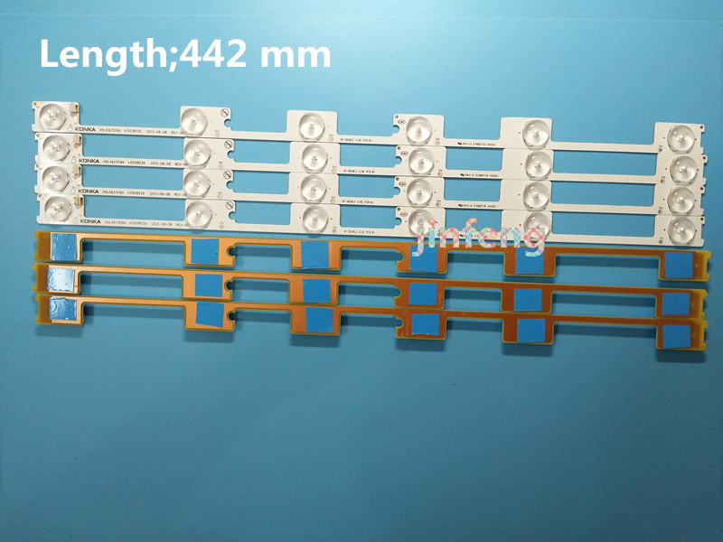 Temperate 30pcs X 6v Led Bar Tv Backlight Strips For Konka Kdl48jt618a 258ytk Panel 35018539 6-leds 442mm 48 Tv Backlit To Make One Feel At Ease And Energetic Computer Cables & Connectors