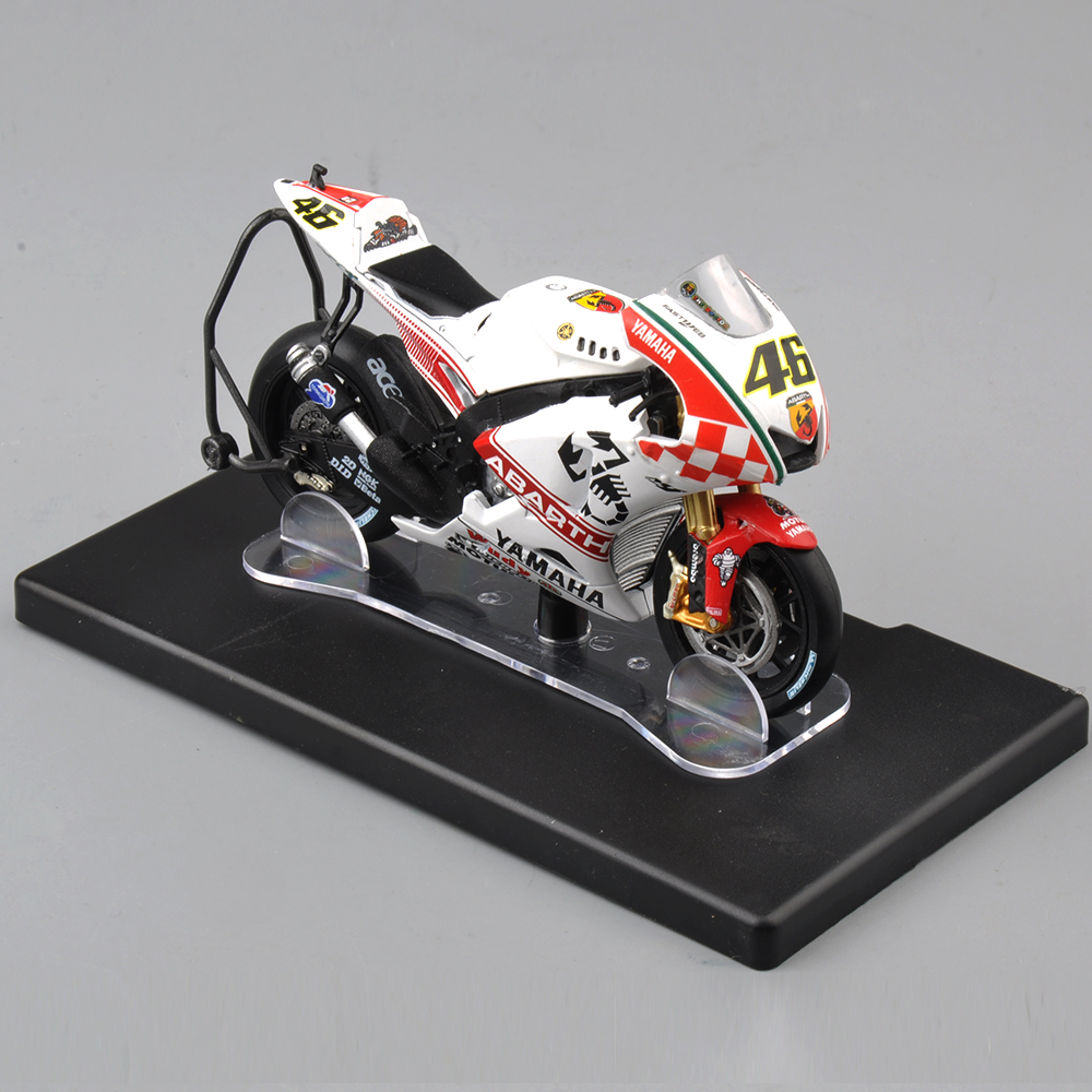 1 18 scale diecast motorcycle valentino rossi yamaha yzr. Black Bedroom Furniture Sets. Home Design Ideas