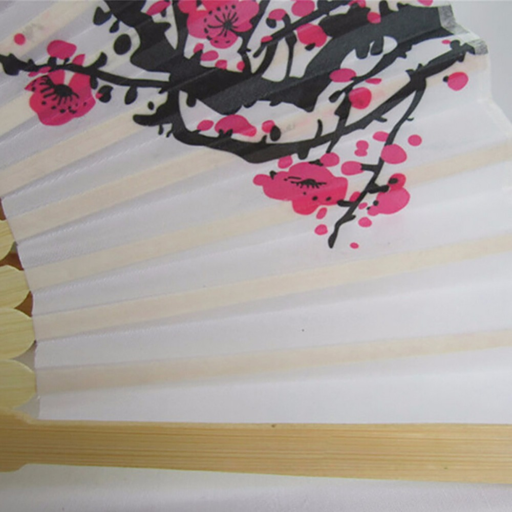 Cherry Blossom Silk Hand Fan Wedding Favor plum Blossom Hand Folding ...