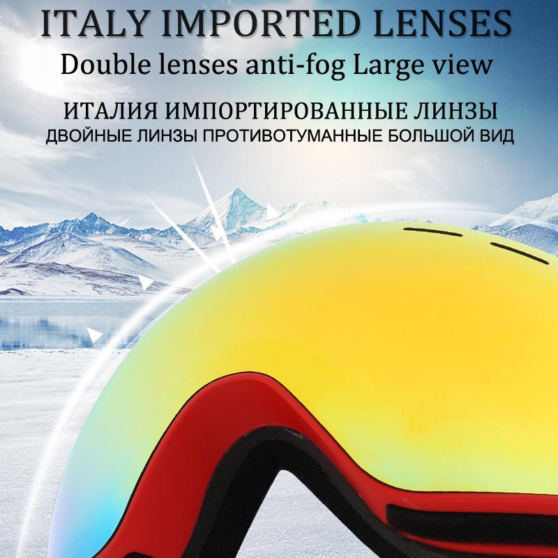 Image 2 - PHMAX 2020 スキーゴーグルスキーマスク男性女性スノーボードスキー UV400 保護防曇雪スキーメガネ    グループ上の スポーツ