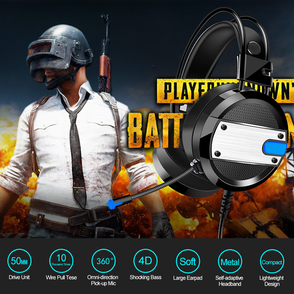 A10 Gaming Headsets 35mm Wired Over Ear Headphones Noise Canceling Wiring Diagram Building Microphone E Sport Earphone With Volume Control For Pc In Headphone Headset From