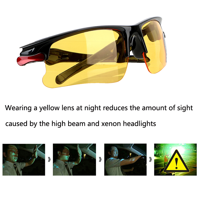 Image 2 - Car Driving Glasses Night Vision Glasses Sunglasses For Mitsubishi Asx Lancer 10 Outlander Pajero Colt Carisma Galant Grandis-in Car Stickers from Automobiles & Motorcycles