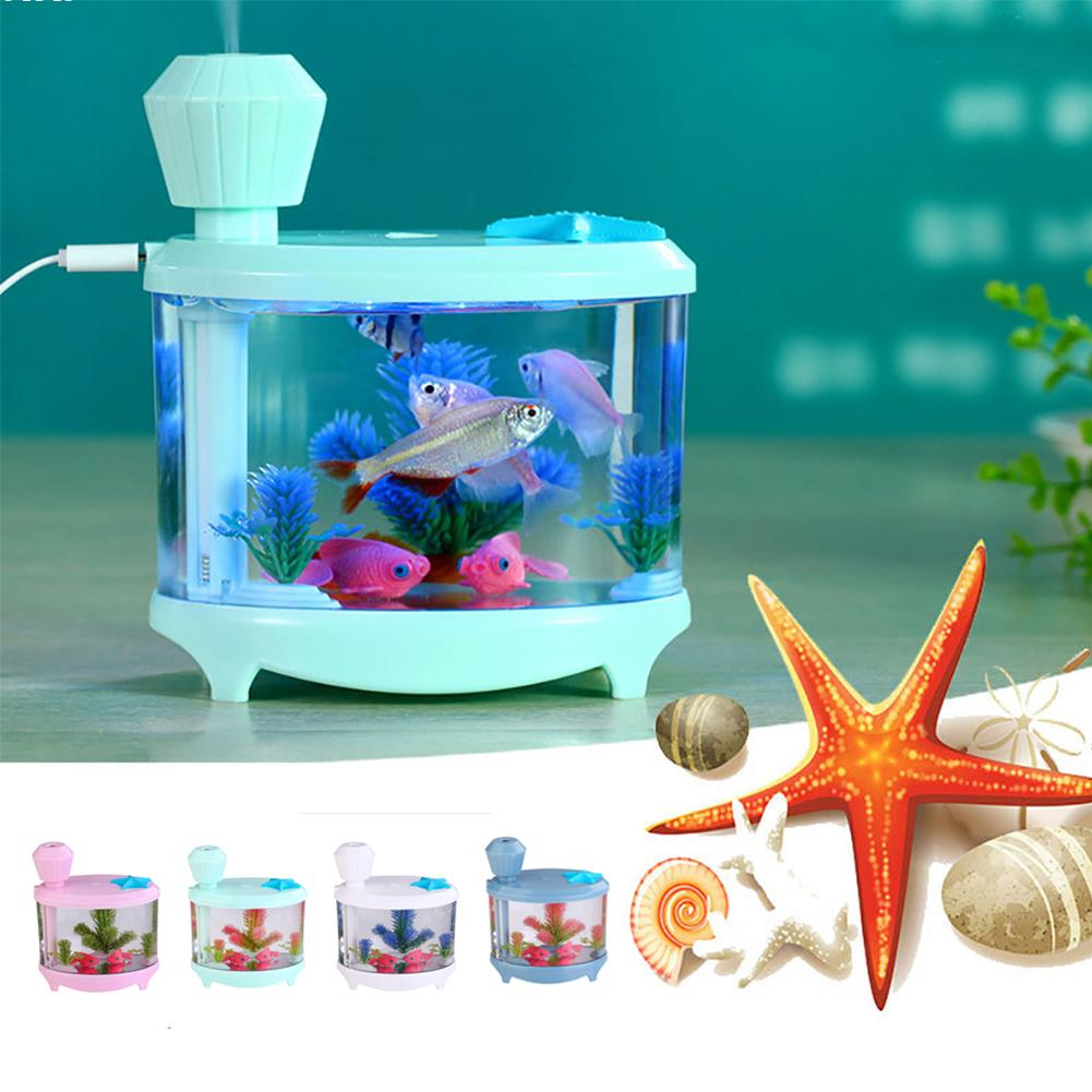 Fish tank night light - Fish Tank Light Humidifier Night Light Air Purifier Misting Maker Aquarium Lamp Air Purifier Misting Maker