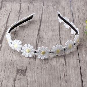 New Designer Small chrysanthemum Hair Band for Girls Headband Hair Accessories Princess Dress Flower Hair band White Daisy(China)