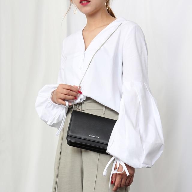 2019 Spring Summer White Women Blouses Lantern Sleeve V Neck Loose Shirts Tops Long Sleeve High Street Short Work Blusas