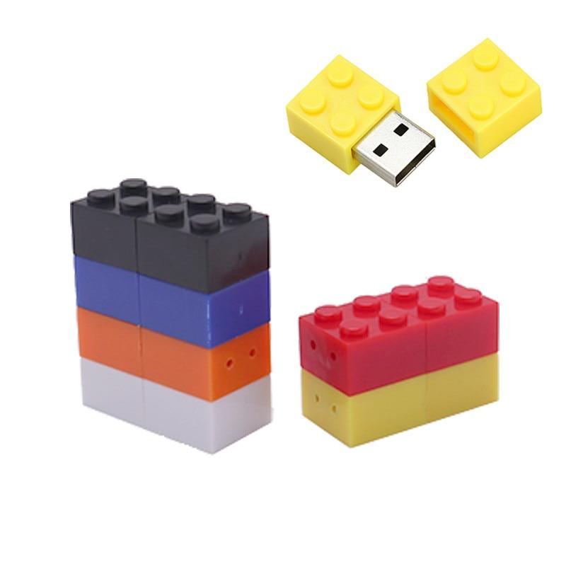 Pen Drive Building Blocks Usb Flash Drive 4GB 8GB 16GB 32GB 64GB 128GB Toy Brick Memoria Usb Stick Creative Gift Pendrive Cle