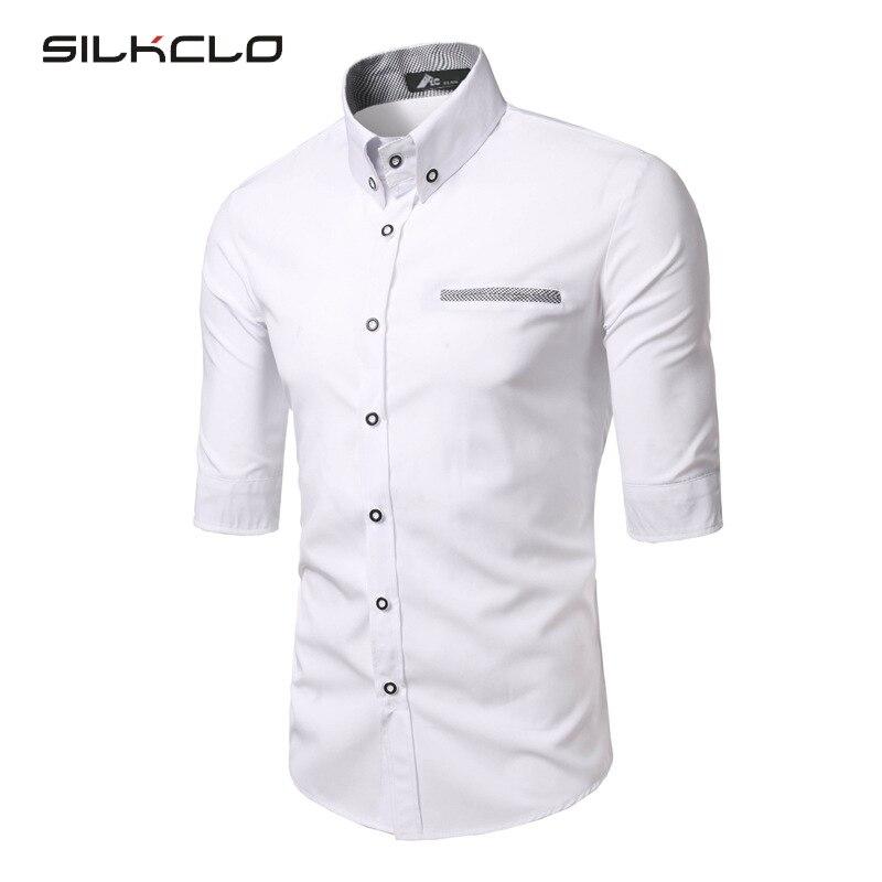 FLC 2016 Summer New Brand Clothing Men's Cotton Shirt Half Sleeves Shirts Men's Quality Casual Shirt Brand Dress Shirts Camisa