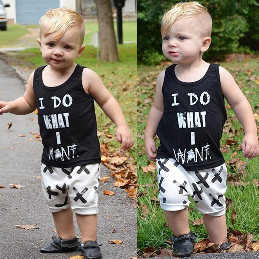2016 Boys Spiderman New Regular Pullover O-neck Fashion Cotton Toddler Kids Boy Sleeveless T-shirt Top Pants Two Pieces Outfit