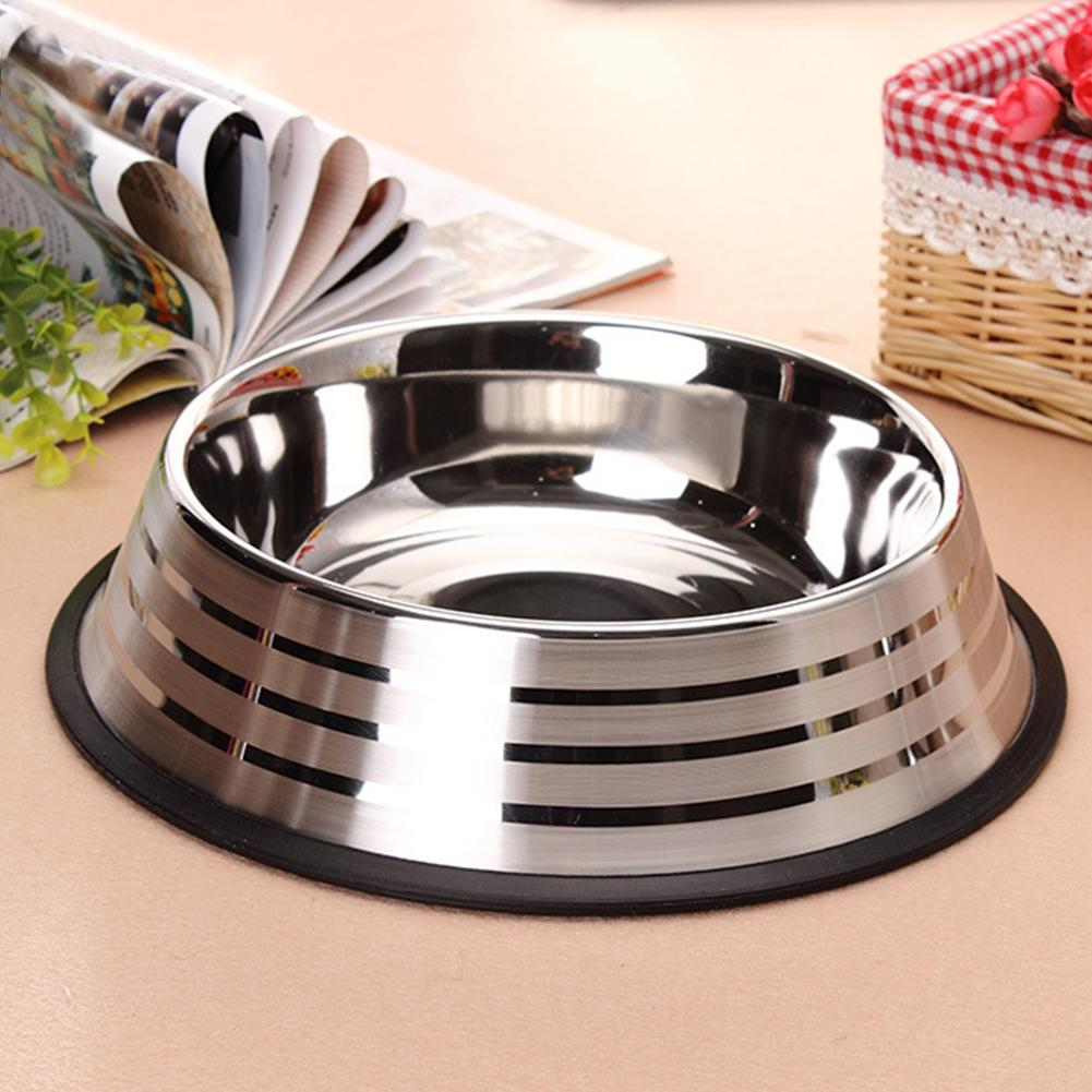 M/L/XL Large Thickened Stainless Steel Pet Bowl Medium Large Dog Pet Food Bowl Cat Bowl Pet Bowl With Anti-slip Strip