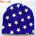 Aelorxin 2016 otoño invierno bebé sombrero boy girl cap unisex Estrellas de la gorrita tejida Infantil Los Niños Sombreros de Punto de Algodón Niños Nuevo Bebé tapas