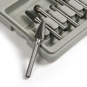 Image 2 - Fixmee 8PCS Tungsten Carbide Rotary Burrs Set 6mm Shank fit Dremel Rotary Bit Tool