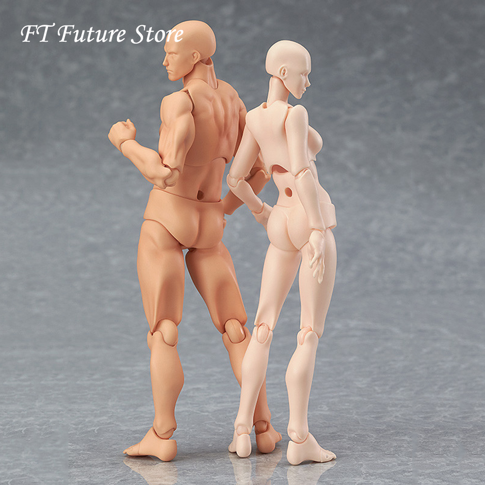 CHAN/Kun He She PVC Movebale Action Figure Skin Color Nude Male Female Figures Bodies Collections Gifts 14.5cm 2.0 Youth Edition image