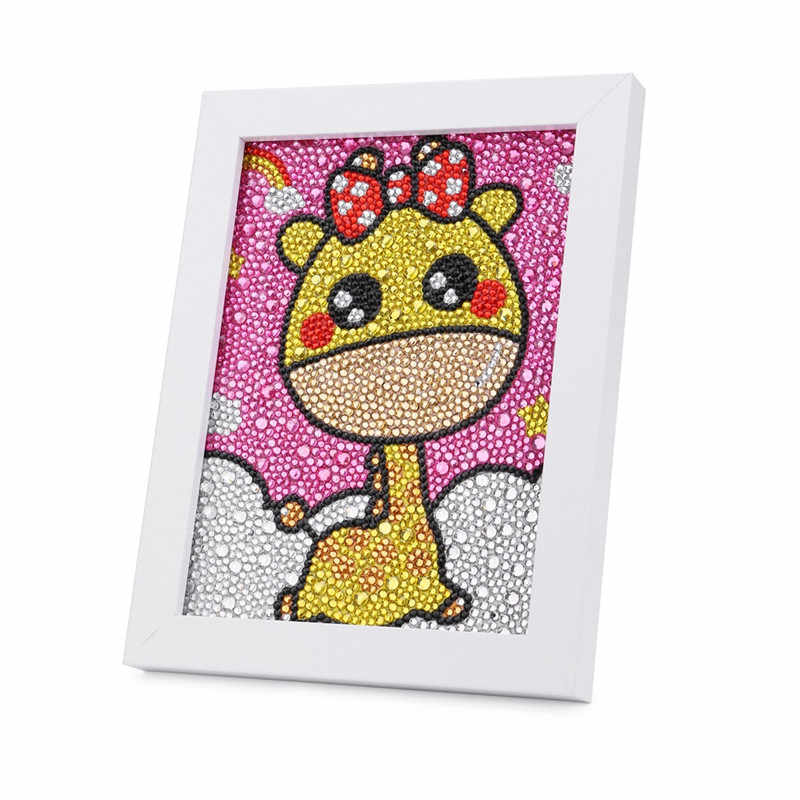 cartoon Diamond Embroidery giraffe icons 5D Diy diamond painting Cross Stitch animals picture special shaped Rhinestones pattern
