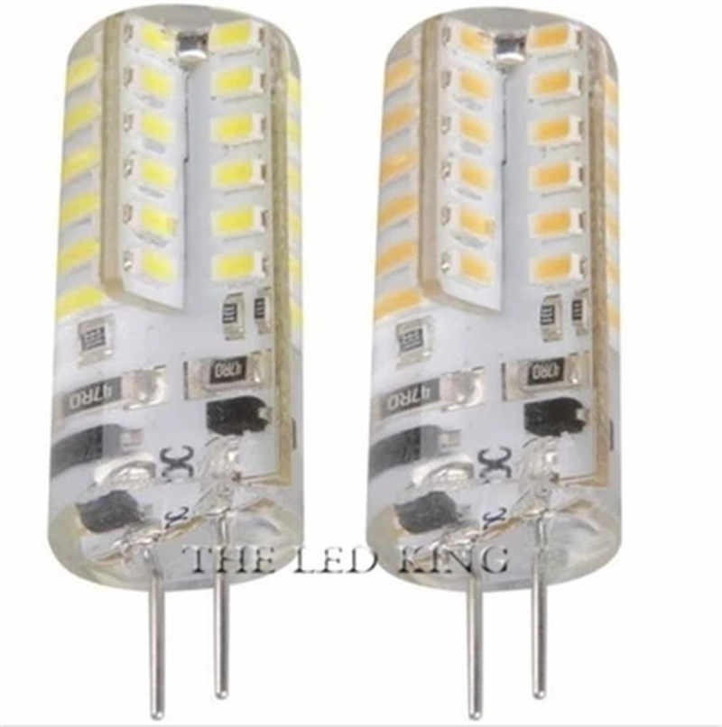 Sonqin G4 Lampu LED AC DC 12V Mini Lampada Lampu LED 3014 SMD Chip 360 Balok Sudut G4 Gratis pengiriman