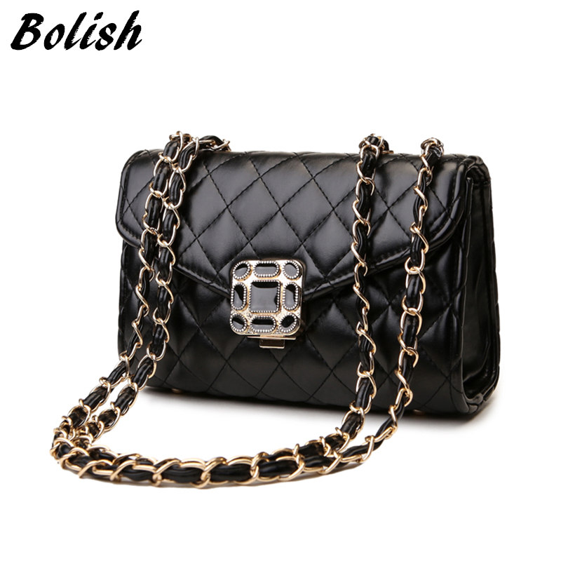 New Arrival Hot Sale Embroidery Plaid PU Leather Women Handbag High Quality Chai