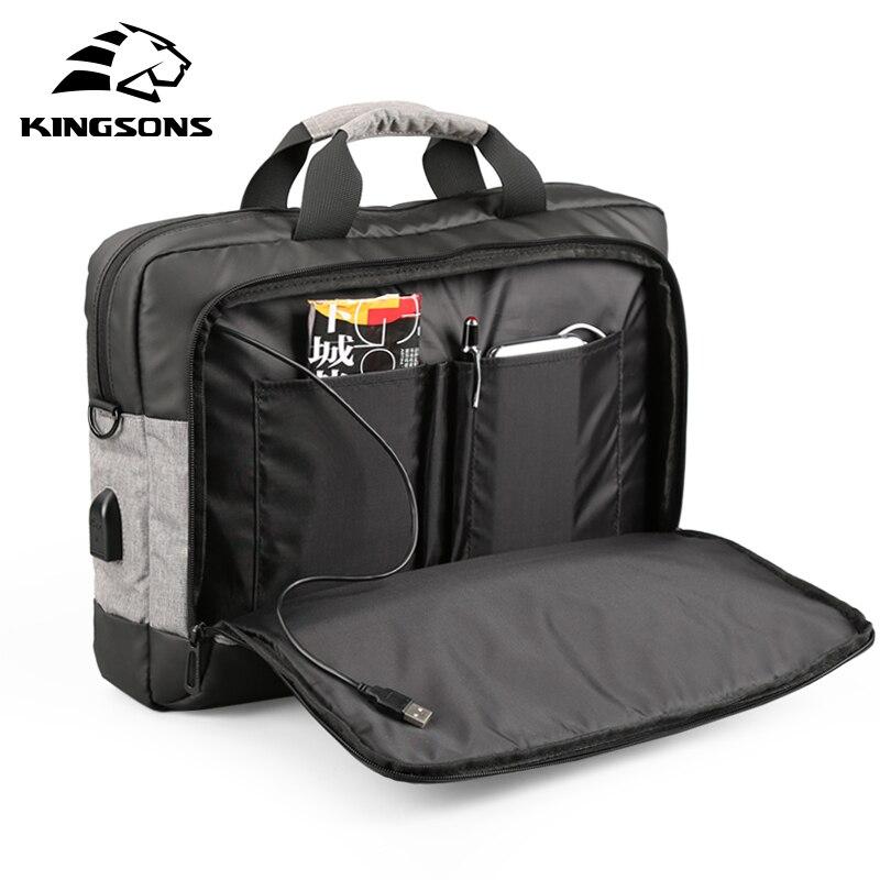 Kingsons Повседневное Для мужчин сумки зарядка через usb плеча Crossbody сумки Для мужчин сумка