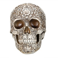 Resin Craft Skull Statues Garden Statues Sculptures Skull Ornaments New Creative Art Statue Halloween Home Decoration