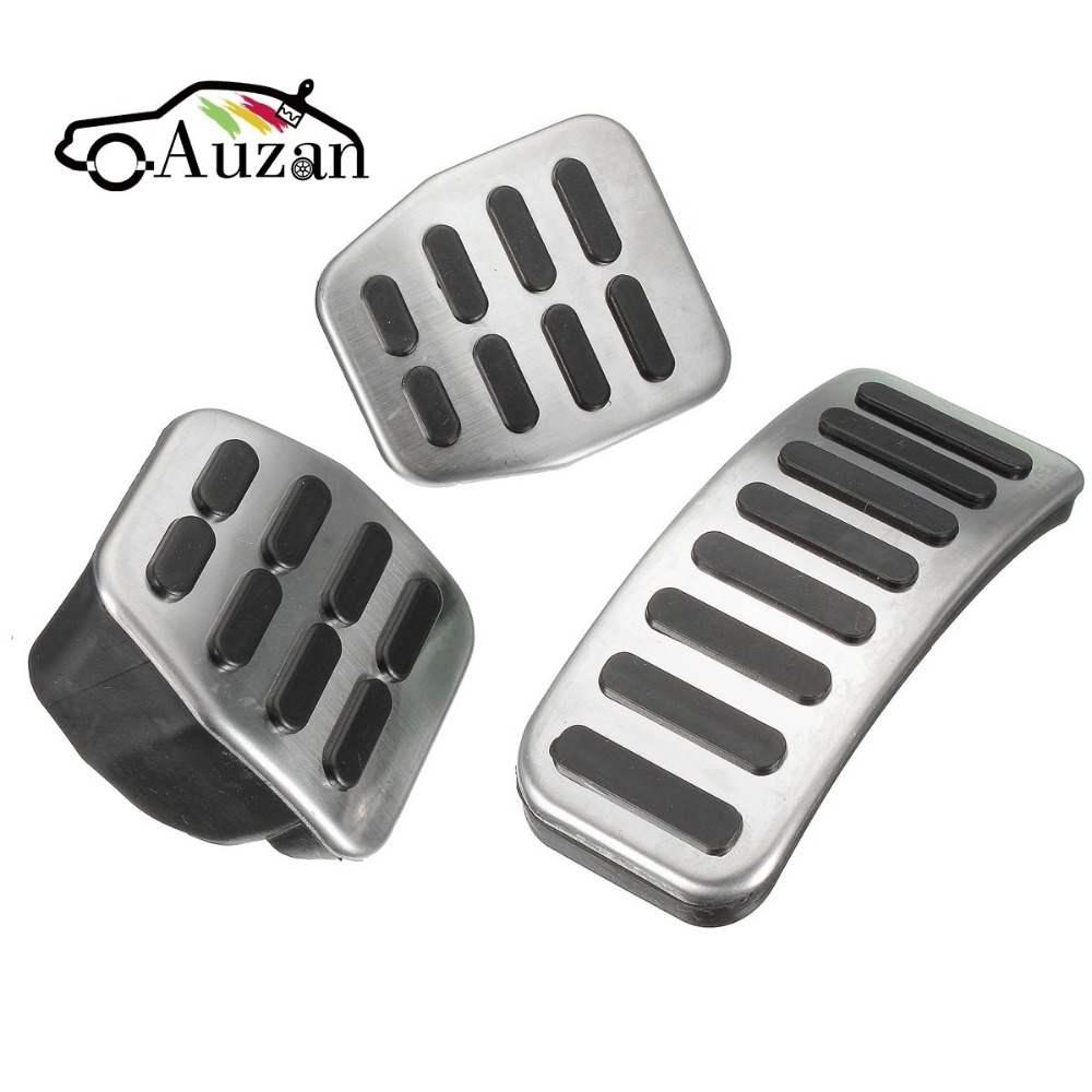3Pcs/Set Universal Stainless Steel MT Pedal Pads For VW Polo For Jetta MK4 For Bora Golf MK4 High Quality