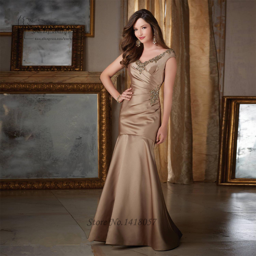 2016 Lace Mermaid Mother Of The Bride Dresses Groom: Brown Black Mermaid Mother Of The Bride Dresses 2016 V