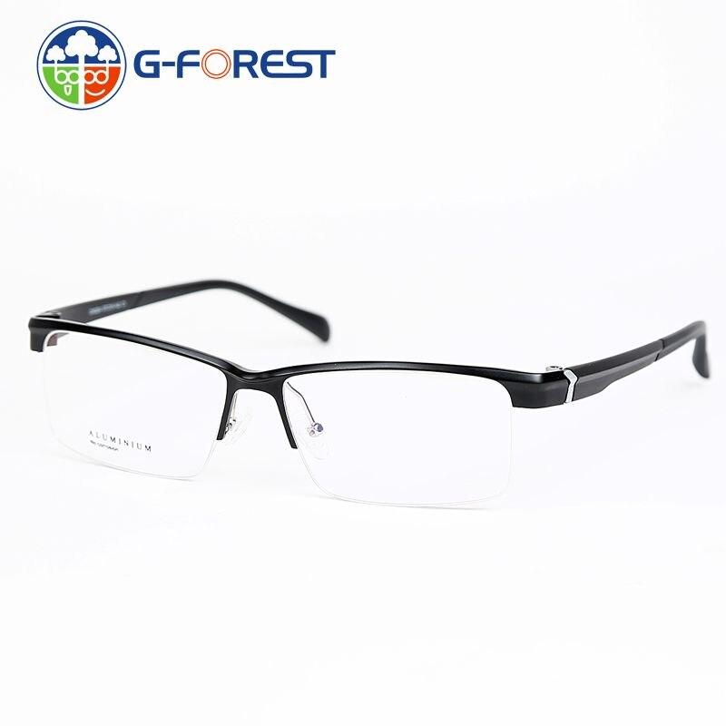 abee31a84 2017 Frete grátis óculos meia-armação óculos de alumínio Superlight quadro  prescrição TR90 quadros homens óculos de computador 6224
