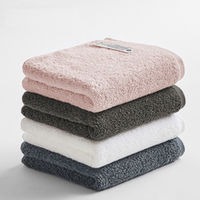 NEW 34*74CM 100% long-staple cotton solid towel super absorbent soft bath pink gray white hair exquisite hand