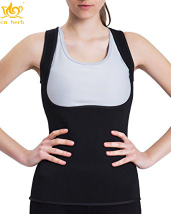 9798379015998 Cn Herb Women s Body Shaper Hot Sweat Workout Tank Top Slimming Vest Tummy  Fat Burner Weight Loss Shapewear