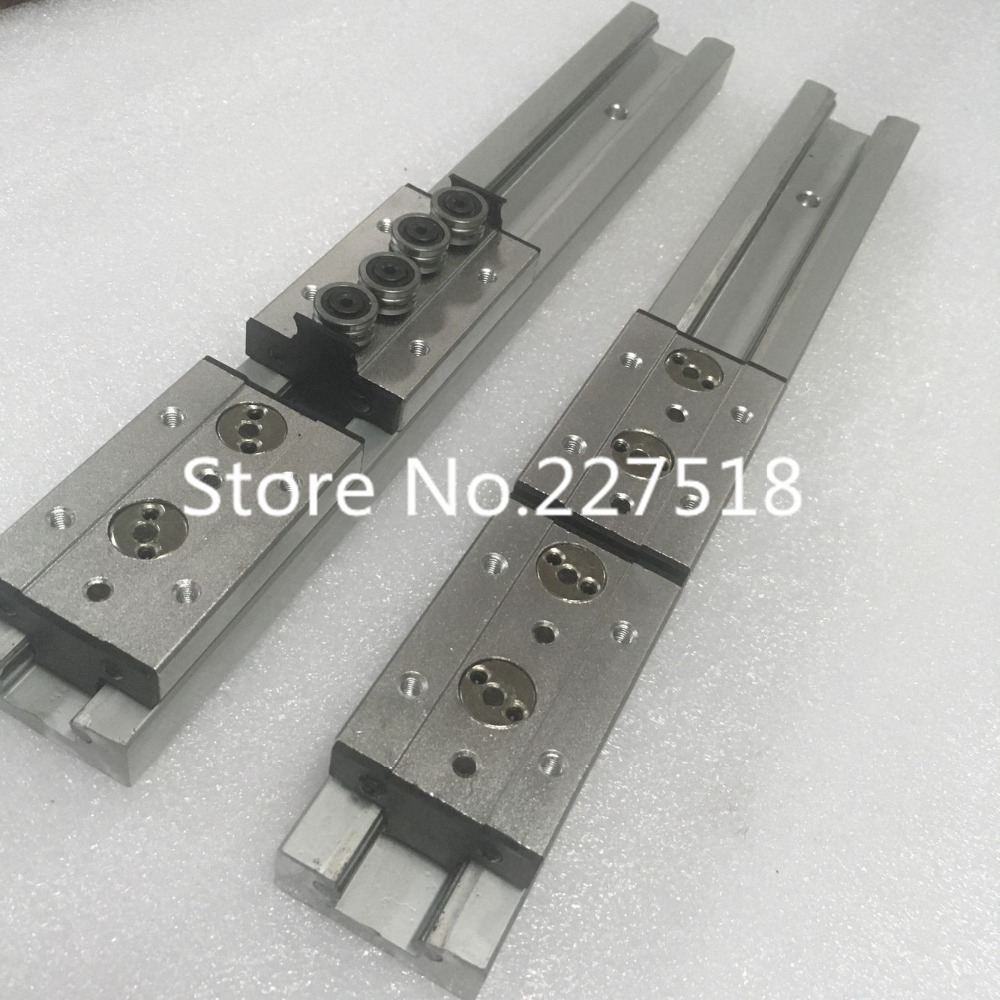 2pcs Double axis roller linear guide SGR15 L800mm +4pcs SGB15UU block multi axis core linear Motion slide rail auminum guide2pcs Double axis roller linear guide SGR15 L800mm +4pcs SGB15UU block multi axis core linear Motion slide rail auminum guide