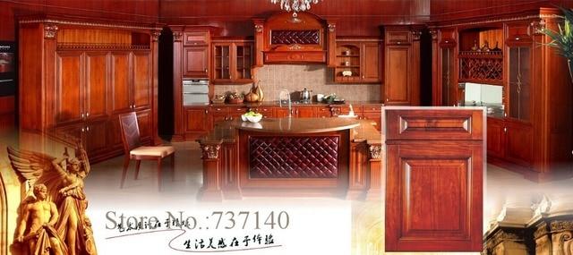 Cucina americana in legno massello armadio da cucina una soluzione ...