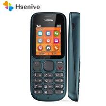 100 оригинальный Nokia 100 FM радио разблокирована оригинальный хорошее качество мобильного телефона один год гарантии Бесплатная доставка