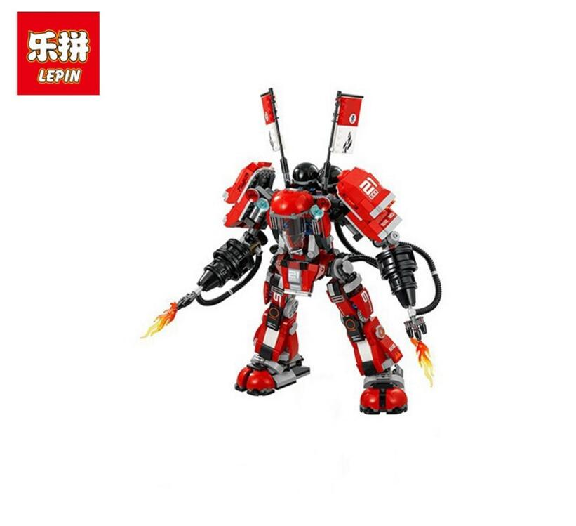 LEPIN Ninja 06052 1010PCS Fire Mech Building Blocks Bricks enlighten toys for children Brithday gifts brinquedo compatible 70615 lepin 06037 compatible lepin ninjagoes minifigures the lighthouse siege 70594 building bricks ninja figure toys for children