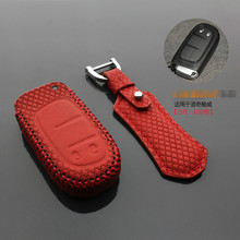 Key cover 2 button for dodge JOURNEY 2013 2014 2015 2016 JCUV leather case wallet key3s Free shipping