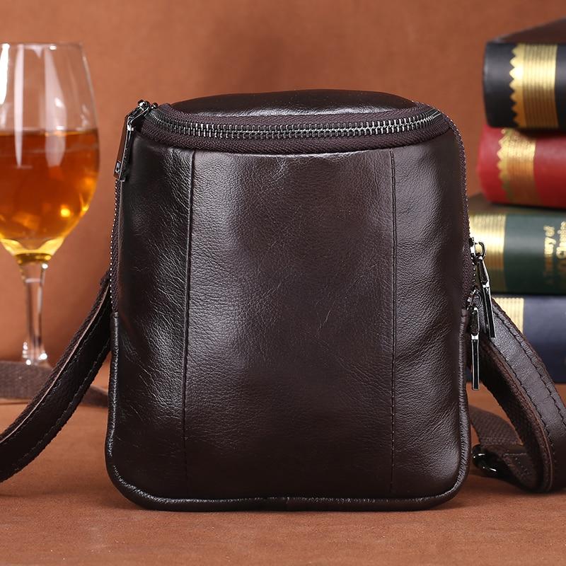 ФОТО free shipping new fashion brand men's single shoulder bag male waist bag 100% genuine cow leather vintage design wholesale
