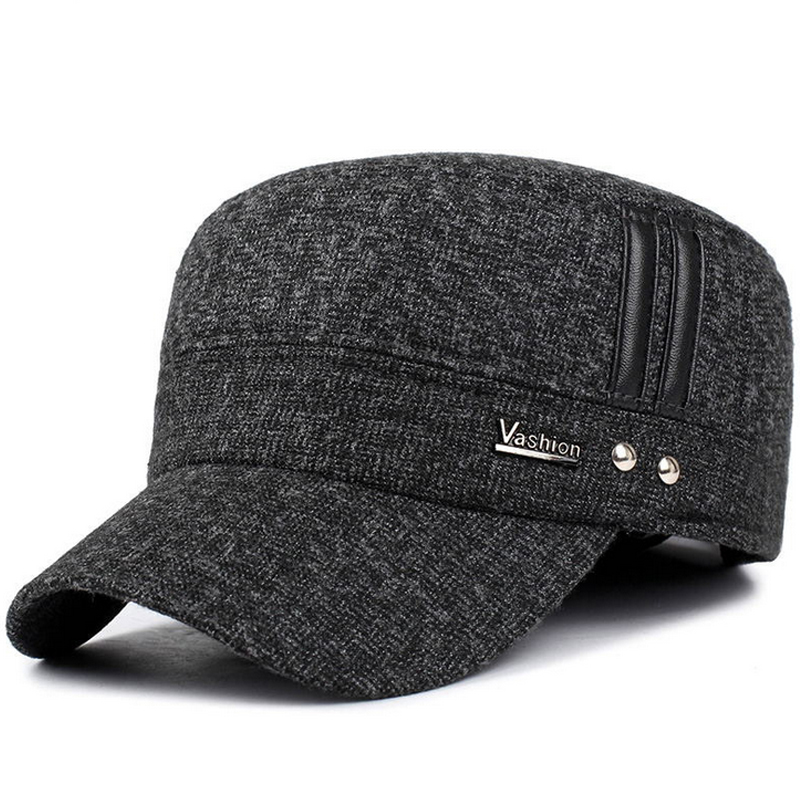 VORON 2017 European winter new men's cotton hat fashion men and women autumn and winter   baseball     cap   adjustable elastic ear   cap